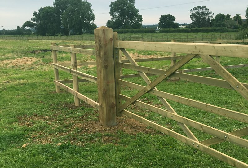 Field Gate installation